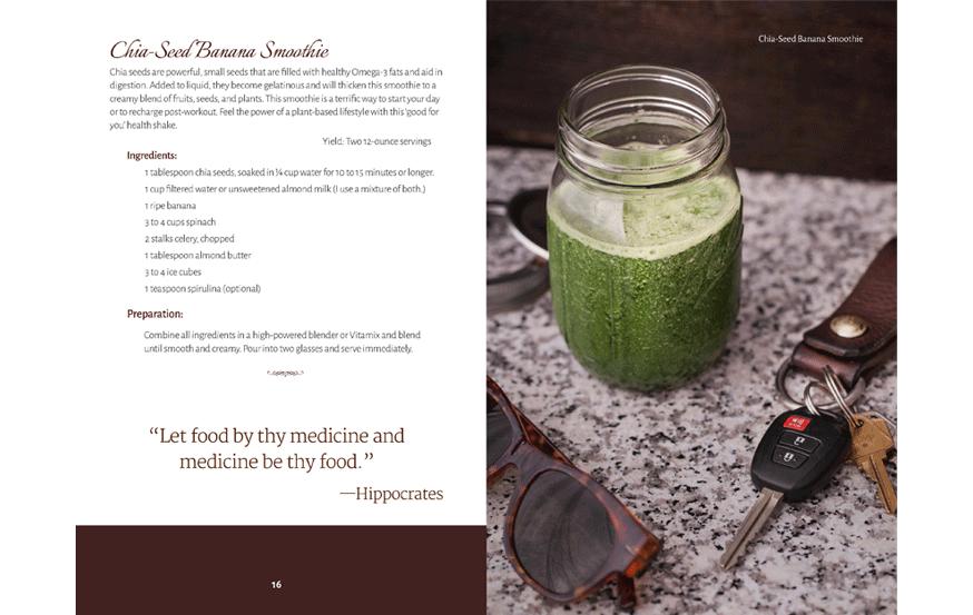 cookbook design sample, interior page layout, recipe formatting