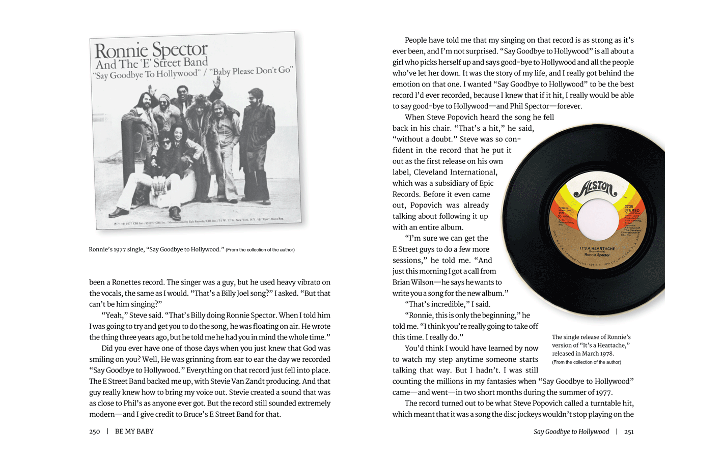 Pages 250-251 for Be My Baby, a memoir by Ronnie Spector