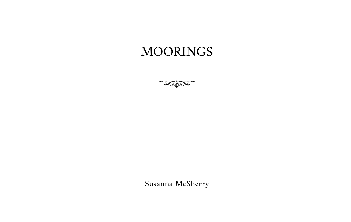 Title page for Moorings