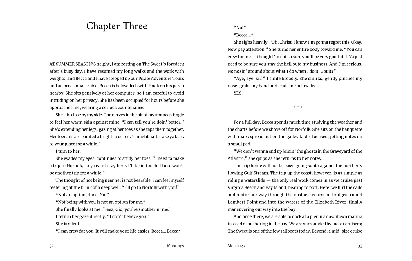 Chapter Three for Moorings