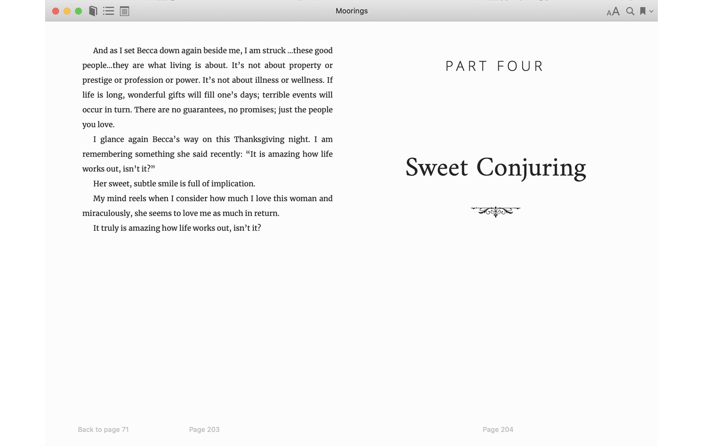 Part Four - Sweet Conjuring for Moorings book
