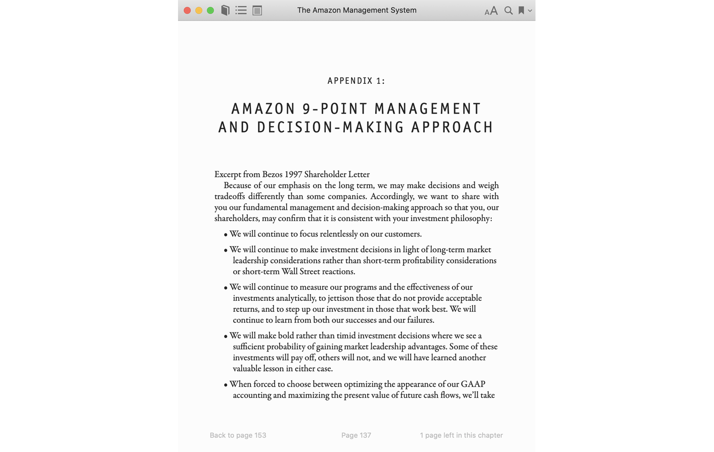 Page 137 for The Amazon Management System