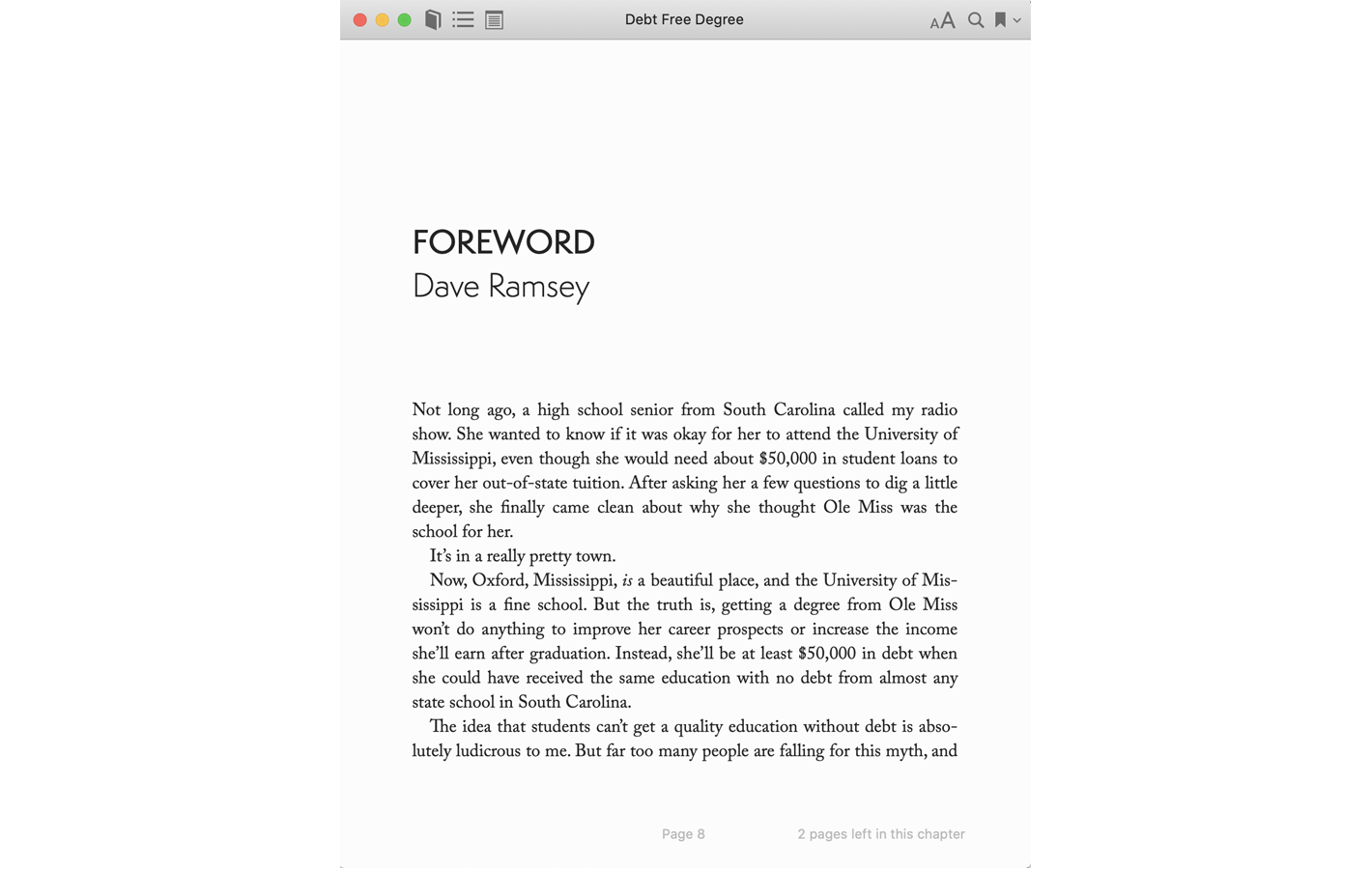 Foreword by Dave Ramsey