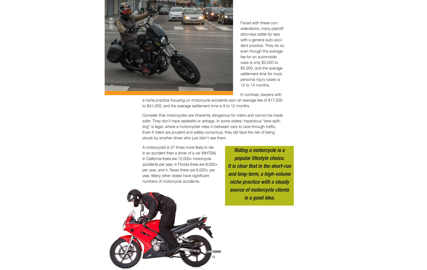 Page 13 for The Definitive Niche Marketing Guide for Personal Injury Lawyers
