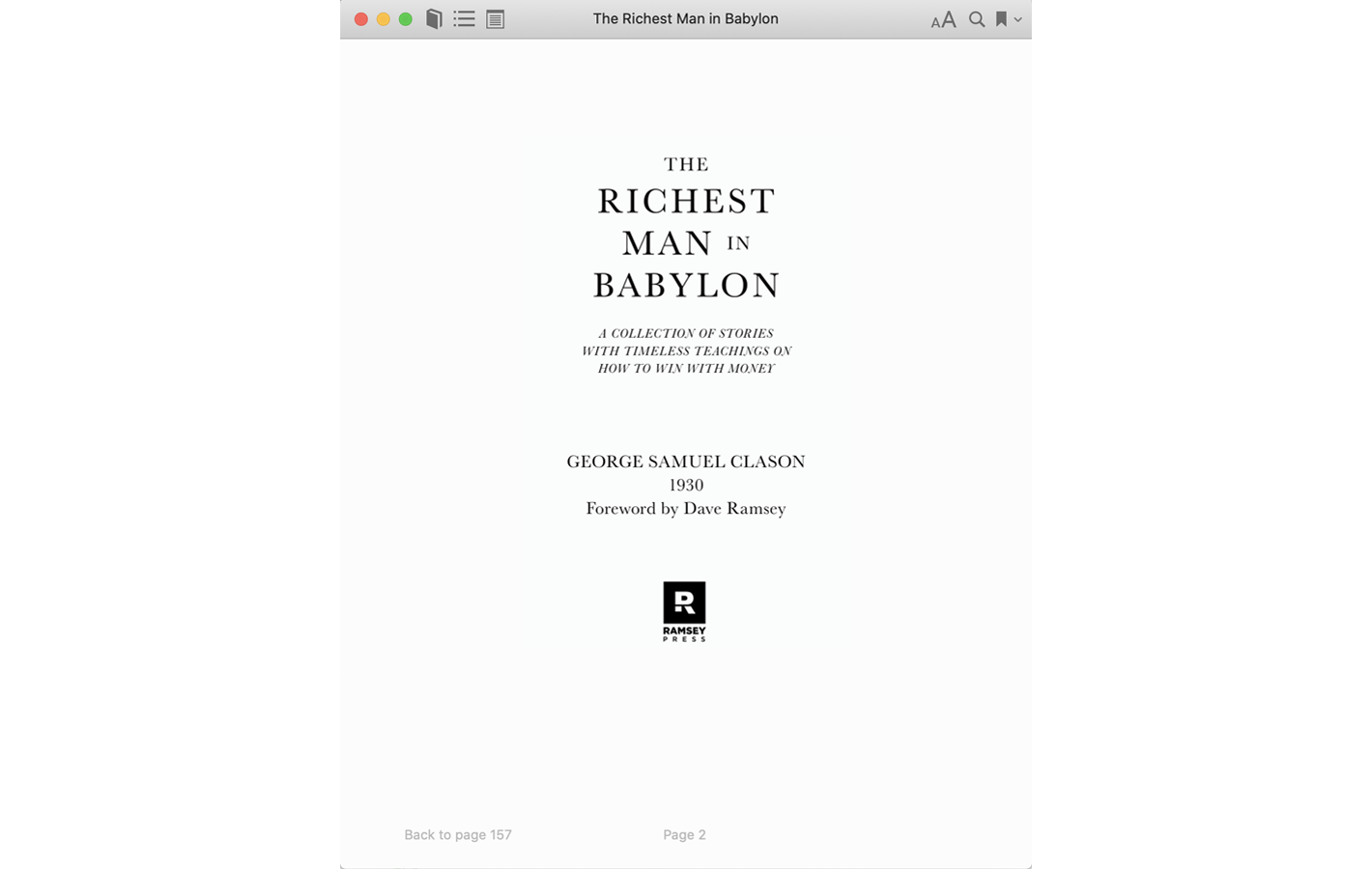 Title page for The Richest Man in Babylon