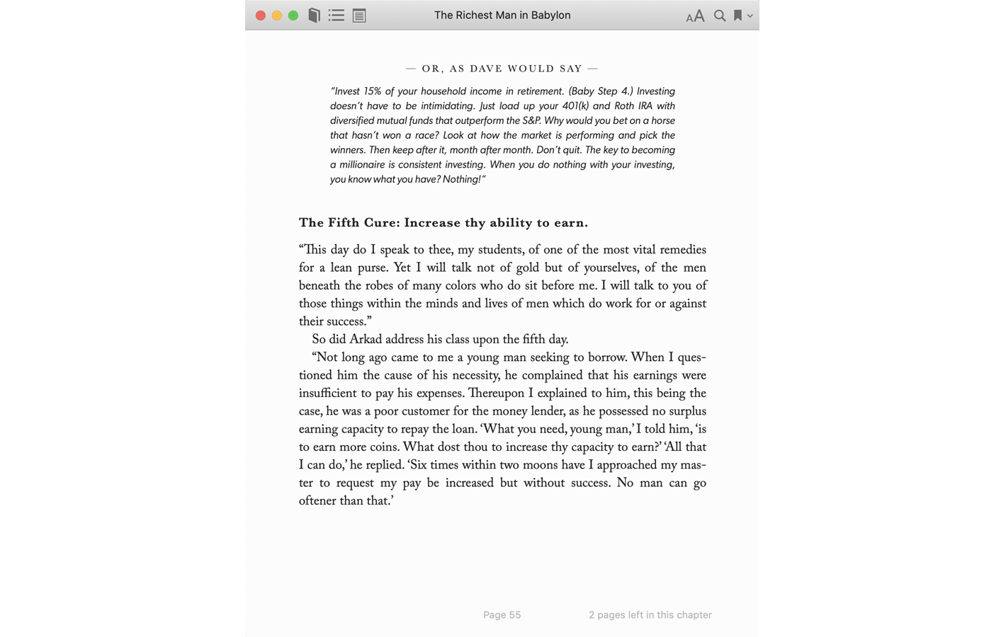 Page 55 for The Richest Man in Babylon