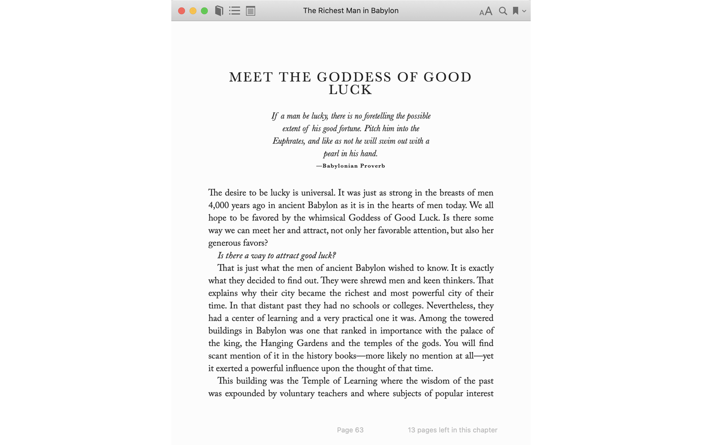 Page 63 for The Richest Man in Babylon